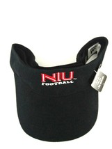 NIU Football Huskies Adidas Black Adjustable Climalite Adjustable Visor Hat - $7.69