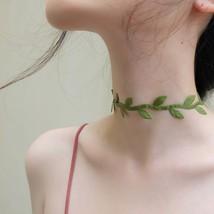 2019 Korean Sweet Cute Green Leaves Short Collar Choker Necklace for Wom... - $9.80