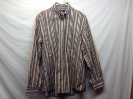 Men's Vertically Lined Multicolor Collared Shirt by New Man - $44.55