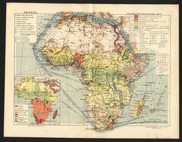 1930 MAP of Africa & Oceans by GGK VSNH USSR Soviet - $8.88