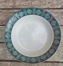 """Sakura Cypress Stoneware Coupe Soup Bowl  7 1/2"""" Vintage Dark Green / White - $12.00"""