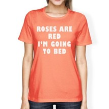 Roses Are Red Women's Peach T-shirt Short Sleeve Cute Gift Ideas - $14.99+