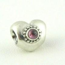 Pandora Sterling Silver Rhodolite Heart Charm Bead  - $26.72