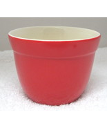 """Crate and Barrel Red 2 3/4"""" Banded Bowl Custard Size Serving  T76 - $14.85"""