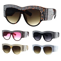 Bling Engraving Concave Foil Iced Thick Plastic Cat Eye Sunglasses - $17.34 CAD
