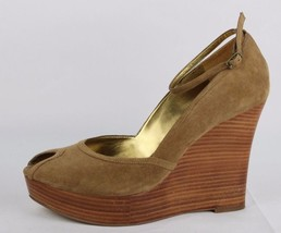 Guess by Marciano Rice women's brown platform open toe leather upper size 8.5 M - $22.02