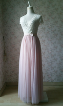 PINK Long Tulle Skirt Pink Bridesmaid Tulle Skirt Outfit Bow-knot image 4