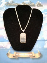 Serenity Prayer Pendant Women/Men Dog Tag Fashion Jewelry 2 tone gold/si... - $9.99