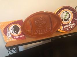 Washington Redskins NFL Football Party Supplies w/ Plate, Napkins & Shap... - $11.29