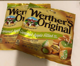 2 Werther's Original Caramel Apple Hard  Candies 2.65 Oz Bags Exp 9/20 Free Ship - $8.42