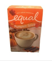 EQUAL Pumpkin Spice Zero Calorie Sweetener 80 Packets Sealed Exp 9/21 - $10.00