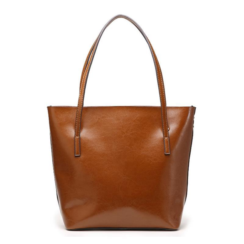 Genuine Leather Cowhide Tote