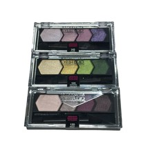 Maybelline Eyestudio Eyeshadow Quads Lot of 3 Palettes, Total of 12 Color Shades - $11.66