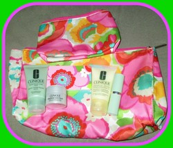 Clinique 5-piece Bonus Collection with Cosmetic& Makeup Bag NEW - $19.75