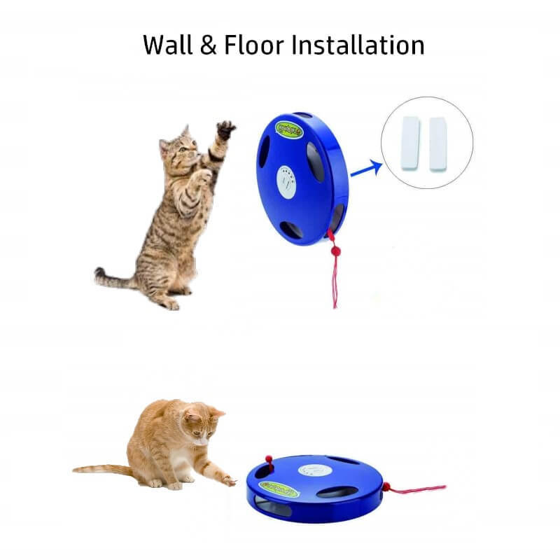 Tail Spin Rat, Electric Toy for Cat or Kitten, Interactive Battery Operated Toy image 8