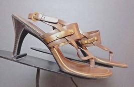Women's Cole Haan Brown/Copper Leather Slingback Pumps Sz. 6.5M EXCELLENT - $31.71