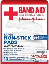 Band-Aid Triple Layer Non-Stick Pads, Large, 10 Count - $6.92