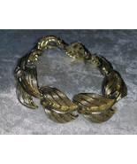 Bracelet vintage open work gold tone leaf 7.5 inches different wedding   - $18.00