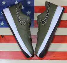 Nike Air Force 1 One Low AOP Basketball Shoes Olive-Green/White [AQ4131-200]- 13 image 5