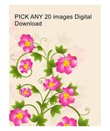 PICK ANY 20 images Digital Download-ClipArt-Art Clip-Digital Clipart. - $20.00