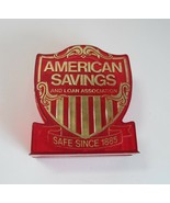 Vintage Red Plastic American Savings and Loan Association Coin Piggy Bank - $9.99