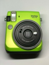 Fujifilm Instax Mini 70 Instant Film Camera Kiwi Green w/ 10 rainbow film - $49.25