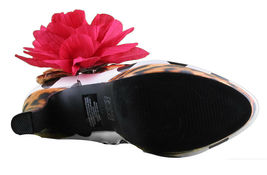 Iron Fist White Black Polkadot Leopard Lolita Love High Heels Platform Shoes NIB image 7