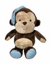Carters Baby Monkey Musical Crib Pull Toy Child of Mine Blue Striped Bro... - $25.95