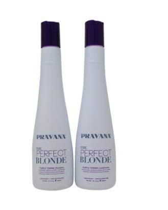PRAVANA THE PERFECT BLONDE Purple Toning Shampoo and Conditioner DUO (10.1Oz eac