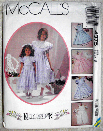 Vintage McCalls 4375 Size 6 Children Girls Kitty Benton Pinafore Pantaloon Pants