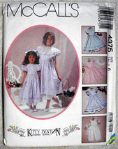 Vintage McCalls 4375 Size 6 Children Girls Kitt... - $12.00