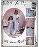 Vintage McCalls 4375 Size 6 Children Girls Kitty Benton Pinafore Pantalo... - $12.00