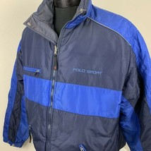 Vintage Ralph Lauren Polo Sport Jacket Goose Down Reversible Coat 90s XL... - $169.99