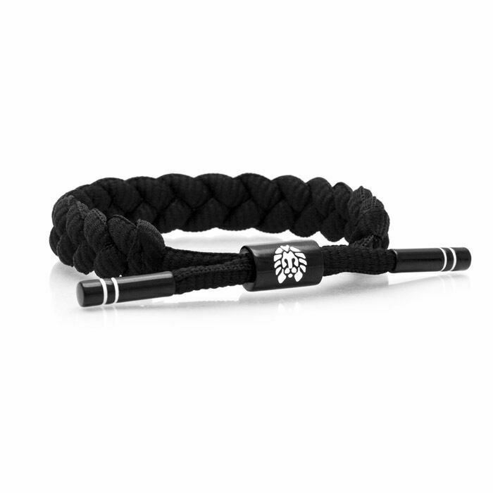Rastaclat Level 9 Blk Wht Braided Shoelace Wristband Bracelet Jewelry RC001LVL9