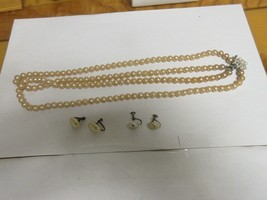 Fashion  Jewelry , Vintage , Necklace (1) Pearl  , Earrings (2) , Mixed Lot - $35.00