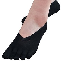 PANDA SUPERSTORE 1 Pair Low Cut Thin Silk Stockings Five Fingers Ankle Socks for