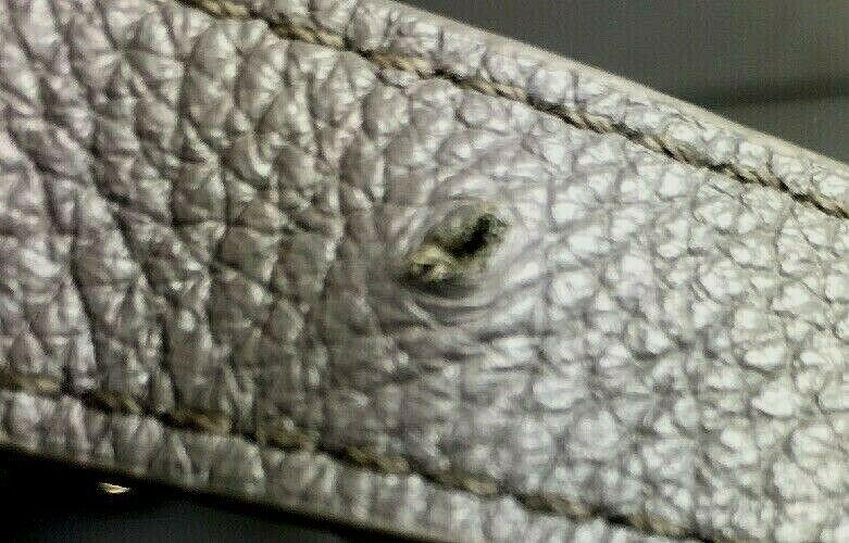 Erica Anenberg Grey Leather Cross Body Satchel Shoulder Bag image 11