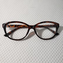 New Betsey Johnson +2.00 Cat Eye Reading Glasses Brown Tortoise Pinup Retro - $37.09