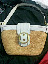 Coach Raffia Straw & Leather Small Handbag - $60.00