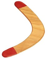 "Solid Wood Boomerang, Red-Tip 17.5"" Outdoor Easy Catch - $12.99"