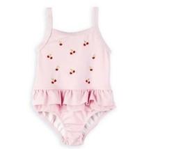 OshKosh Infant Girls 12-24 Months Pink Red Cherry Cherries Ruffled Swims... - $9.99