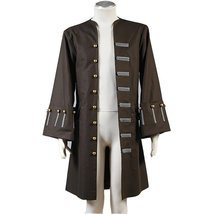Pirates of the Caribbean Jack Sparrow Cosplay Costume Jacket Coat - $70.00