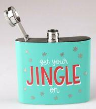 Get Your Jingle On Metal Pocket Hip Flask 5oz Christmas Alcohol Whisky Vodka NEW image 4