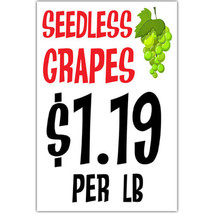 Seedless Grapes Grocery Sign Business Window Retail Poster - ₨1,040.65 INR+