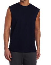 NWT Men's Russell Athletic  Cotton Crew Neck Muscle  Tee Shirt 4X Navy - $5.45