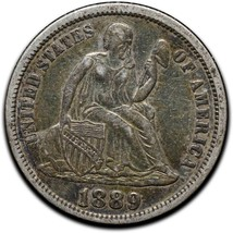1889 Silver Seated Dime 10¢ Coin Lot# A 441 image 1