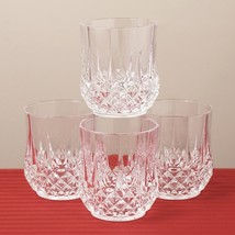 Longchamp Cristal D'arque Old Fashion Whisky Water Juice Glass Set Of 4 - $49.99