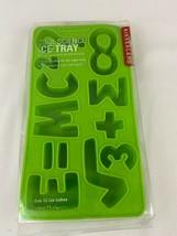 Kikkerland Cool Science Silicone Ice Cube Tray E=MC2 Green Math Symbols   - $5.93