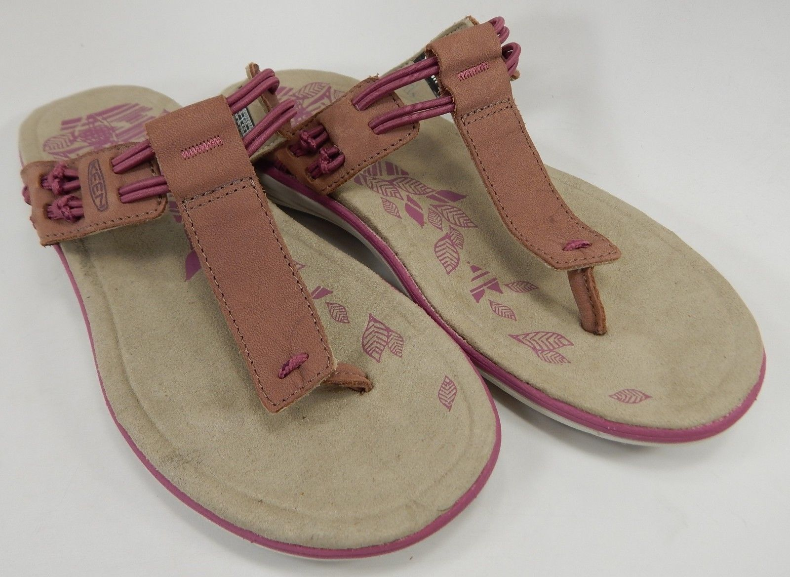 Keen Maya Strappy Slides Women's Sandals Size US 7 M (B) EU 37.5 Gray Purple