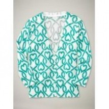 NWT Gap Girls Heart Print Sweater turquoise Size L(10) - $13.99